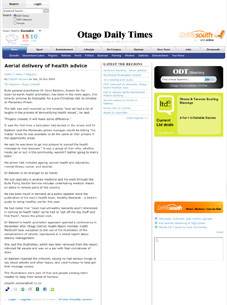 2009 - Otago Daily Times - Aerial delivery of health advice