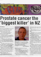 Prostate cancer the Biggest Killer in NZ