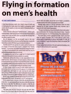 Flying in information on men's health